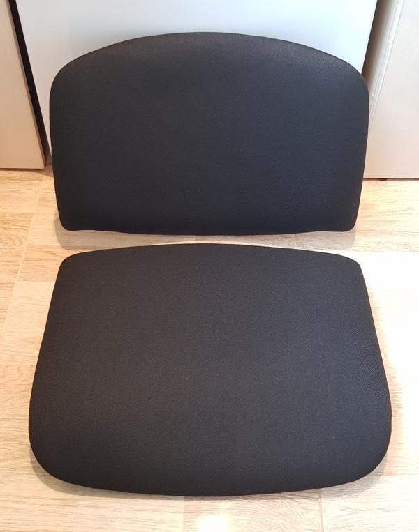 Стул Исо спинка+сидение ткань чёрная