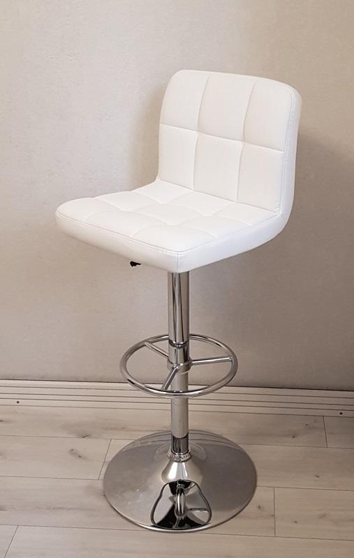 Барный стул кожзам белый